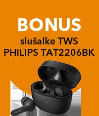 Resnično brezžične športne slušalke PHILIPS TAA7306BK črne