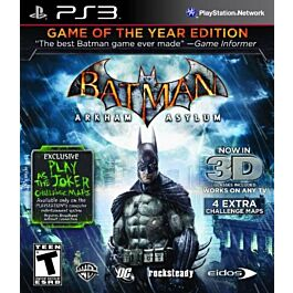 Batman Arkham Asylum: Game of the Year essentials (PS3)