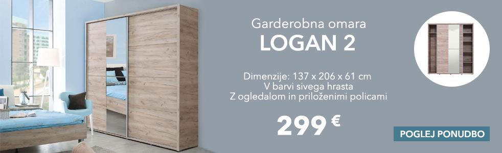 Garderobna omara Logan 2