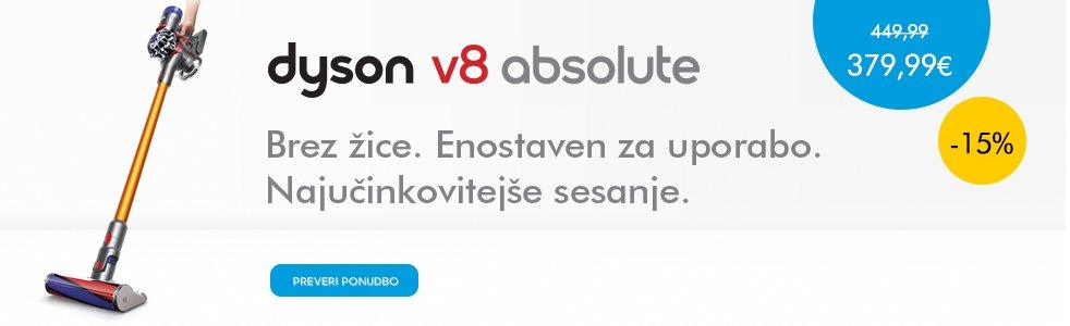 SLO - Category Banner [Pokončni in baterijski sesalniki] - Dyson V8 absolute