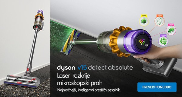 SLO - Main Category Banner [Mali gospodinjski aparati] - DYSON V15 DETECT