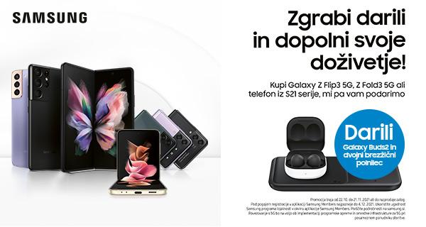 SLO - Main Category Banner [Telefonija] - Samsung Galaxy Z Fold3, Z Flip3, 21 Serije - Darilo