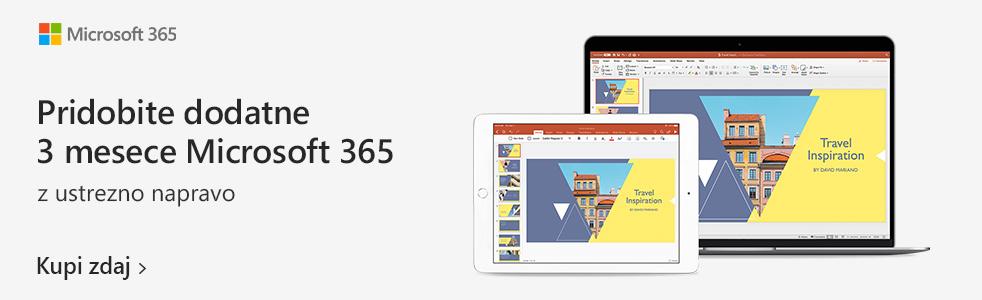 SLO - Category Banner [Prenosni racunalniki] - Microsoft 365 - dodatne 3 mesece