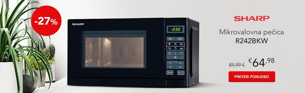 SLO - Category Banner [Mikrovalovne pečice] - Sharp R242BKW