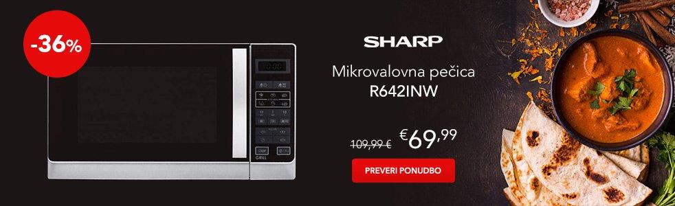 SLO - Category Banner [Mikrovalovne in namizne pecice] - Sharp R642INW