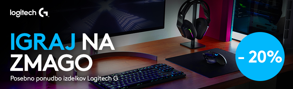 SLO - Sub Category Banner [Gaming računalniki] - LOGITECH G -20%