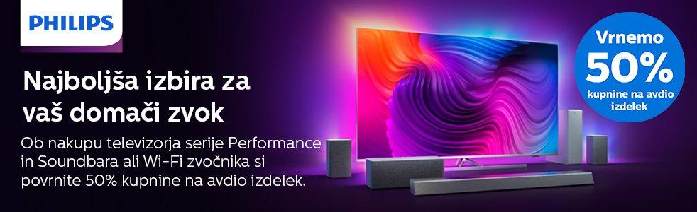 SLO - Category Banner [Televizorji] - Philips Cashback