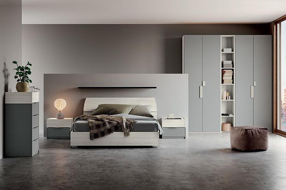 Celotna spalnica Sienna Siva