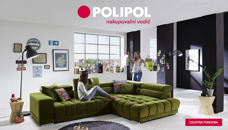 Kotna sedežna garnitura Satellite znamke Polipol v zeleni barvi