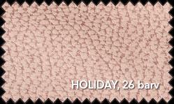 Primer vzorca materiala Holiday za sedežno garnituro Polipol v roza