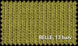 Primer vzorca materiala Belle za sedežno garnituro Polipol v zeleni