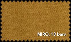 Primer vzorca materiala Miro za sedežno garnituro Polipol v oker barvi