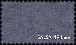 Primer vzorca materiala Salsa za sedežno garnituro Polipol v sivi