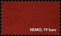 Primer vzorca materiala Nemo za sedežno garnituro Polipol v bordo barvi