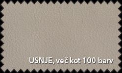 Primer vzorca materiala Usnje za sedežno garnituro Polipol v bež