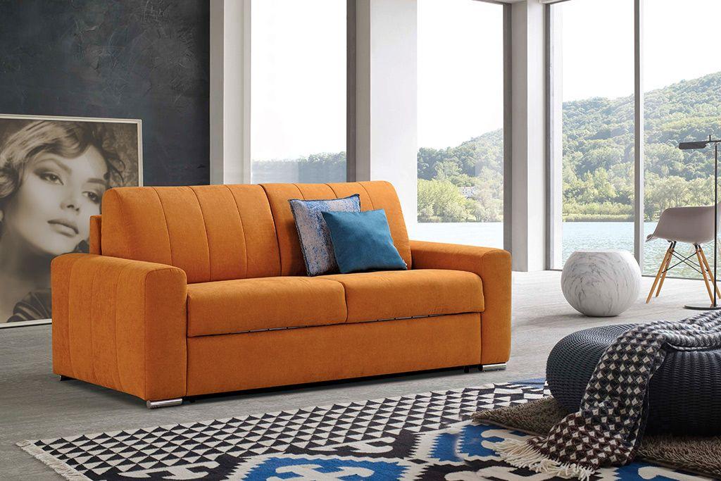 Kavč s pravo vzmetnico Fiesta znamke Cubo Rosso v rumeni barvi